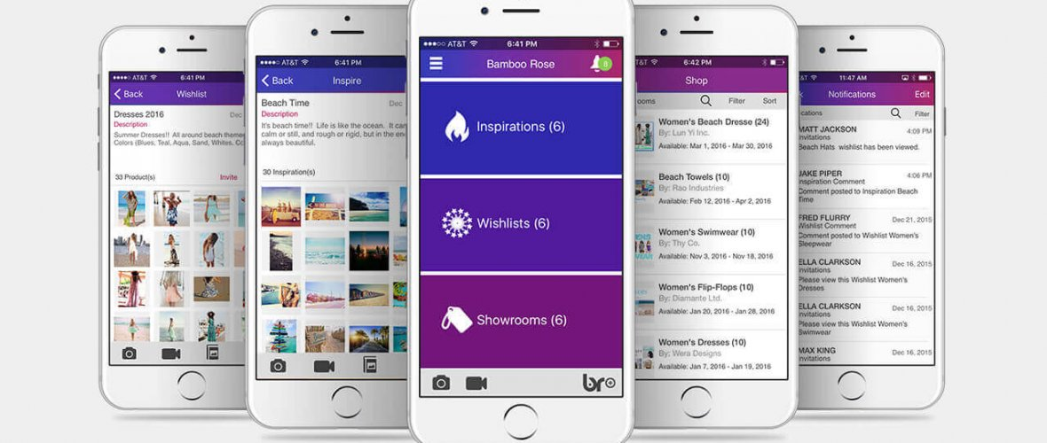 Graphic of Bamboo Rose retail plm mobile user interface