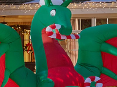 Inflatable holiday dragon