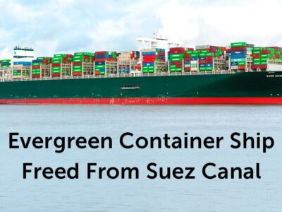 The Evergreen has been freed from the Suez canal.